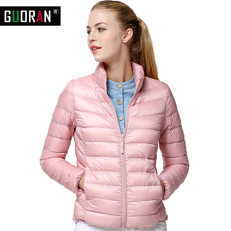 90% real whie duck down coat women down jackets parka winter 2016 warm overcoat 18 colours slim female Light Down Jackets