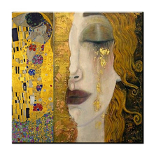 Diamond embroidery golden tears Gustav Klimt diy diamond Painting cross stitch 5D rhinestone mosaic painting by number  ZP-1387
