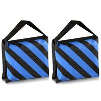 Top Deals Set Of Two Black Blue Heavy Duty Sand Bag Photography Studio Video Stage Film