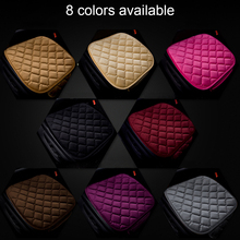 Dewtreetali 1pc Winter Warm Velvet Front Car Seat Cover Protector Driver Seat Cushion Pad Breathable Winter Chair Cushion