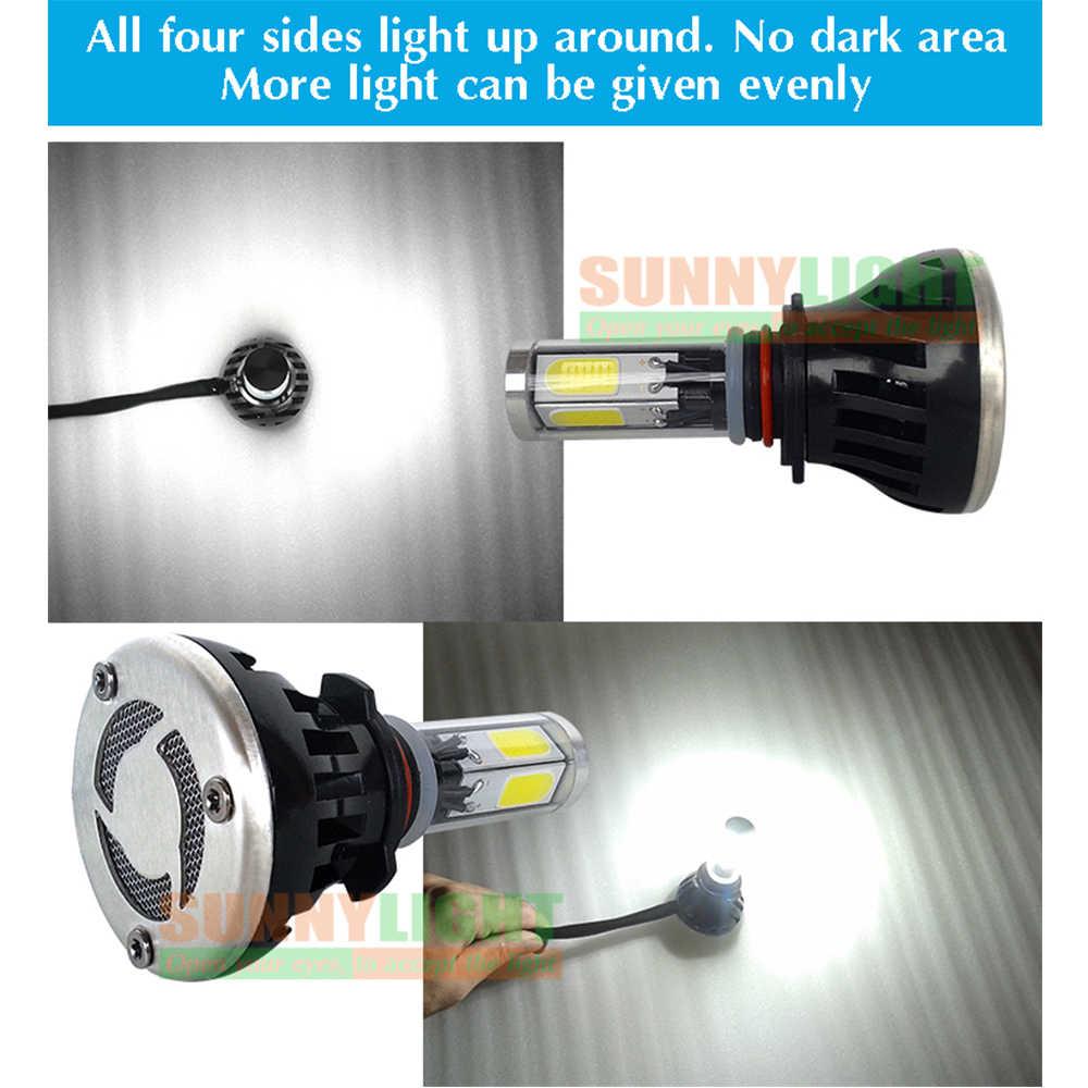 CNSUNNYLIGHT 8000Lm G5 4 Sides 360 Degrees LED H4 H7 H11 9006/HB4 9005/HB3 COB Car Headlight Bulbs 60W  DC 12V Fog Light 6000K