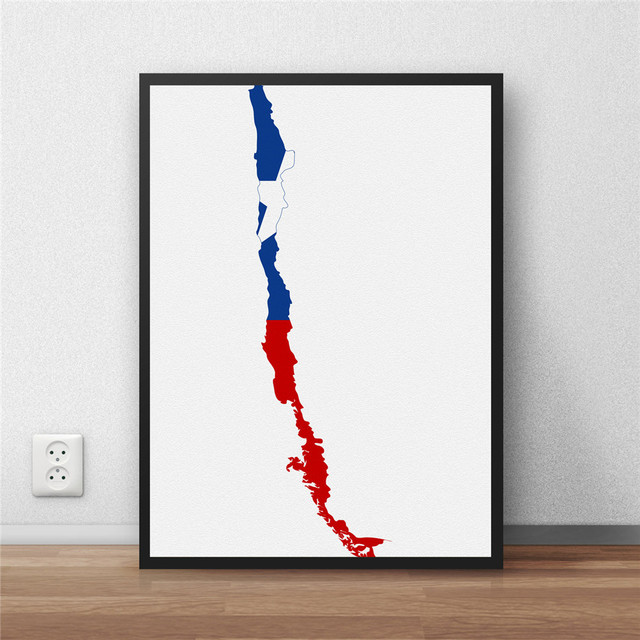 Chile Flag Modern Coated poster Home decoration Painting liry ... on