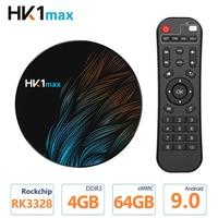 Original HK1 Max Smart TV Box Android 9.0 4GB 64GB RK3328 Media Player 4K Wifi Google Play Netflix Set top Box Android Box 9.0