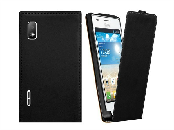 Luxury Genuine Real Leather Case Flip Cover Mobile Phone Accessories Bag Retro Vertical For LG E612 Optimus L5 PS