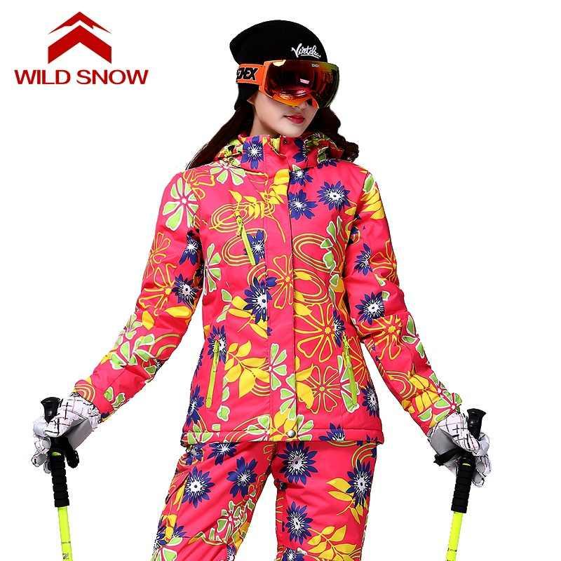 Baru Liar Salju Salju Ski Jaket Tahan Air Luar Ruangan Ski Pakaian Ski Wanita Jaket Snow Ski