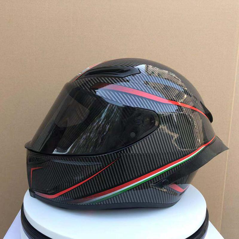 Full Face Pista GP-R black and red Gloss Carbon Motorcycle Helmet Riding Car motocross racing motorbike helmet ((Replica)