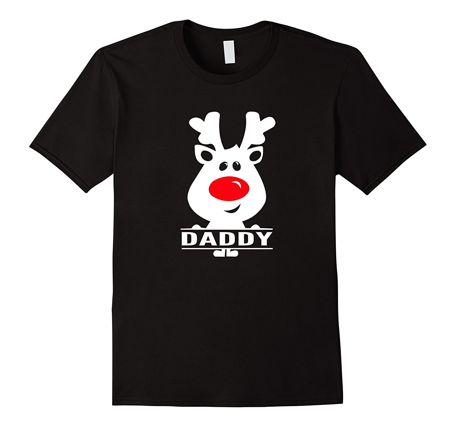 Daddy Reindeer Custom Christmas Pajamas T Shirt Kids Adults Printed T-Shirt MenS Short Sleeve O-Neck T-Shirts Summer Stree
