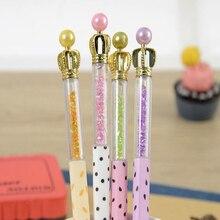 Novel kawaii Cute Crown jewel 0.38 mm black gel pen Student pen writing supplies Office School Gel-Ink Pen Child gift цена