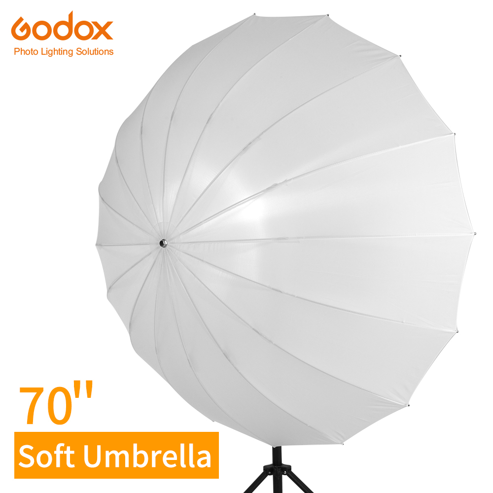 Godox 70 inch 178cm White Translucent Soft Umbrella Studio Lighting Light Translucent Umbrella with Large Diffuser