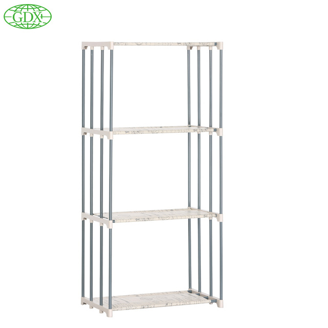 GDX Multi Function 4 Layer Stainless Tube Book Shelf Storage Bookcase  Organizer For Books Shelves DIY