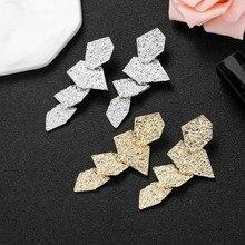 Fashion Women Earrings 2020 Vintage Geometric Earrings For Women Charm Metal Dangle Statement Earrings Jewelry Accessories Gift kiss me brand statement earrings 2017 geometric synthetic stone alloy vintage earrings for women fashion jewelry
