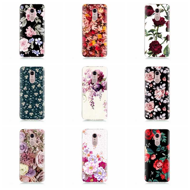 Чехол для Xiaomi Redmi 4x Note 3 mi A1 Note 4 Pro 4A Note 5 6 6pro для Red mi 5A 6 6A мягкий чехол из ТПУ Fundas с рисунком флоры D079