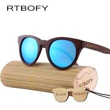RTBOFY Women Sunglasses New Cat eye Brand Design wood sunglasses Polarized sunglasse  Fashion sun glasses lady Eyewear ZB55