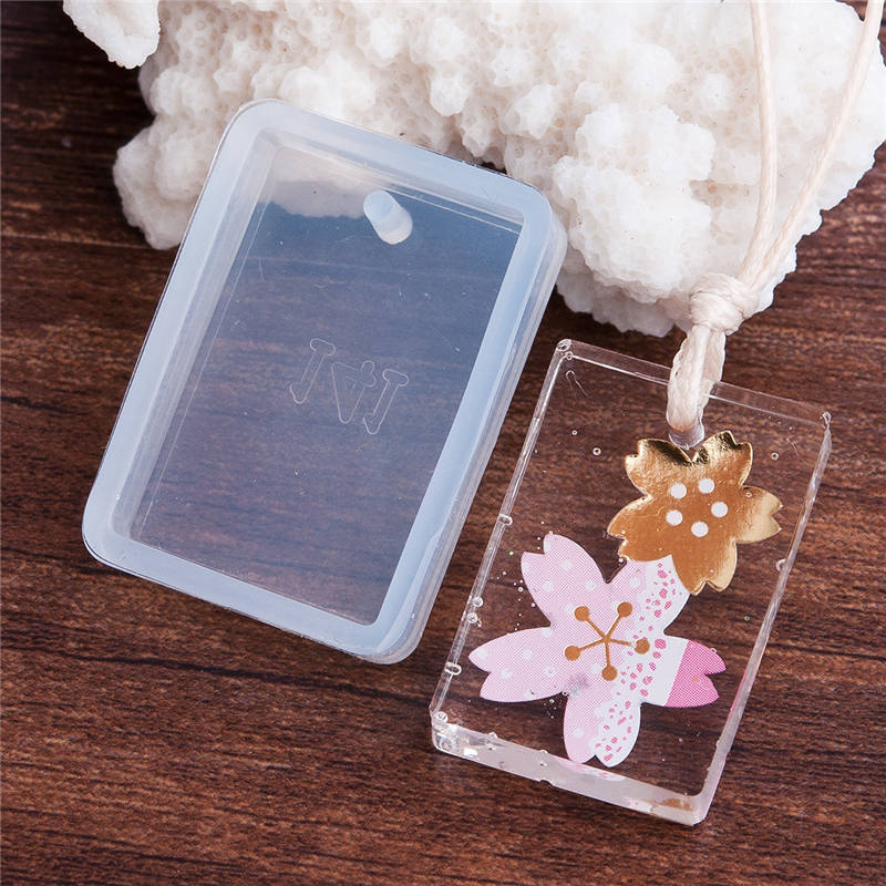 DoreenBeads Rectangle Mould Silicone Resin Mold DIY Mould Tools Jewelry Making White 34mm(1 3/8