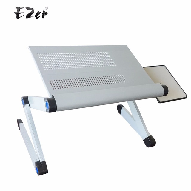 Adjule Portable Laptop Table Stand Lap Sofa Bed Tray Computer Notebook Desk With Mouse