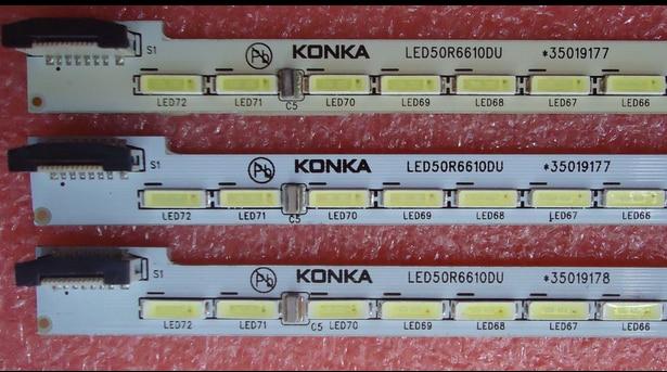 Светодиодный экран с подсветкой 50R6610DU 35019177 35019178 1 шт. = 72 светодиодный да 610 мм