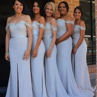 robe demoiselle d'honneur Plus Size Maid of Honor Dress Women Long Bridesmaid Dresses