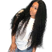 13x6 Lace Front Human Hair Wigs For Women Natural Black Pre Plucked 250% Density Brazilian Curly Human Hair Wig Honey Queen Remy