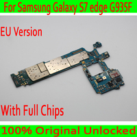 Original unlocked for Samsung Galaxy S7 edge G935F Motherboard,EU Version for Samsung S7 G935F Mainboard with Chip,Free Shipping