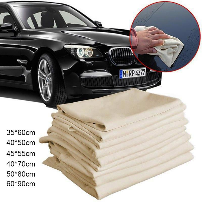2019 New Natural Chamois Leather Car Cleaning Cloth Leather Wash Suede Absorbent Quick Dry Towel Streak Free Lint Free