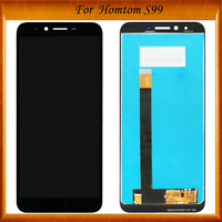 Black For Homtom S99 LCD Display and Touch Screen Digitizer Assembly Replacement For 5.5 Homtom S99 Phone