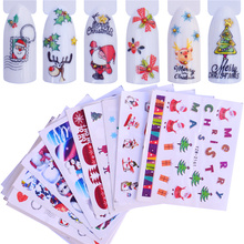 FWC Christmas Water Transfer Nail Art Decorations Sticker Decals Halloween Manicure Nails Supplies Tool diy water transfer foils nail art sticker fashion nails cartoon harajuku sailor moon decals minx nail decorations