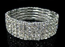 Fashion Clear 1/2/3/4/5/6 Rows Luxury Crystal Bracelets Jewelry