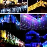 New 600 LEDs Fairy String LED Curtain Light 600 Bulbs Outdoor Home Christmas Wedding Garden Party Novelty Lighting Decoration HR