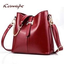 iCeinnight 2017 new women s bag fashion women s handbag PU leather bag women shoulder bag
