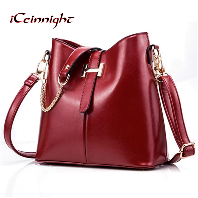 iCeinnight 2017 new women s bag fashion women s handbag PU leather bag  women shoulder bag famous brand 8574df9a1630f