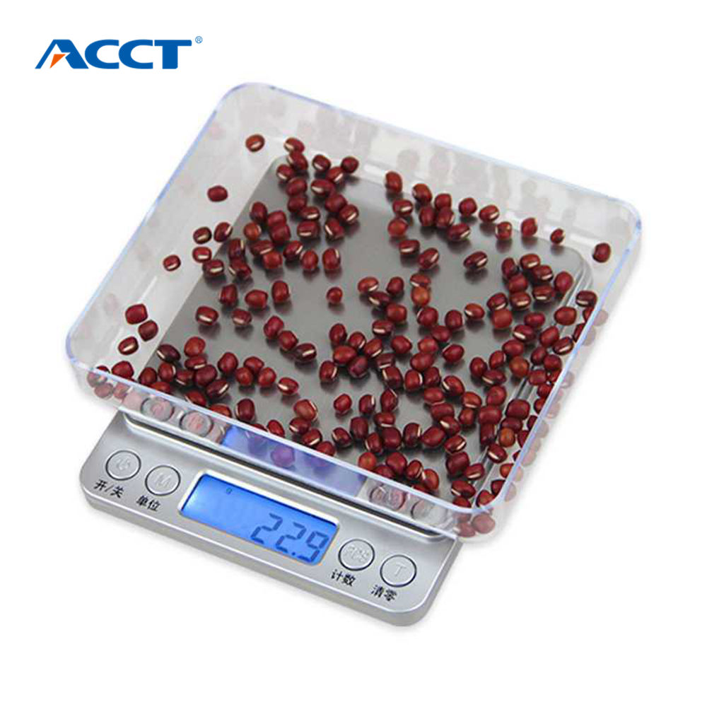 Acct 500g0 01g kitchen scales mini pocket portable stainless steel precision jewelry electronic balance weight gold grams