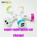 Оригинальный Автомобиль зарядное устройство, Быстрое зарядное устройство USB телефон Зарядное Устройство для iphone 7 samsung HTC плюс Android смартфон Dual USB, автомобильное зарядное устройство