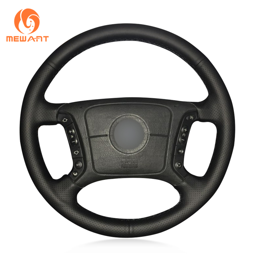 MEWANT Black Artificial Leather Car Steering Wheel Cover for BMW E46 318i 325i E39 E53 X5 ольга черных по имени кассандра
