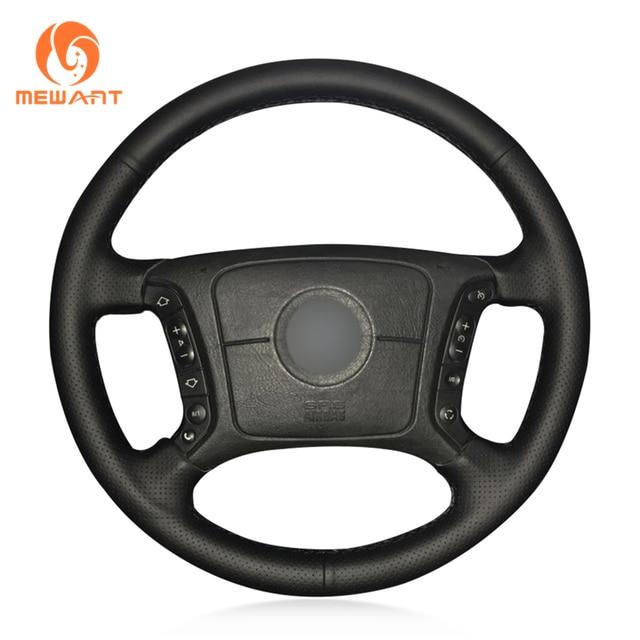 MEWANT черная искусственная кожа рулевого колеса автомобиля крышки для BMW E46 318i 325i E39 E53 X5