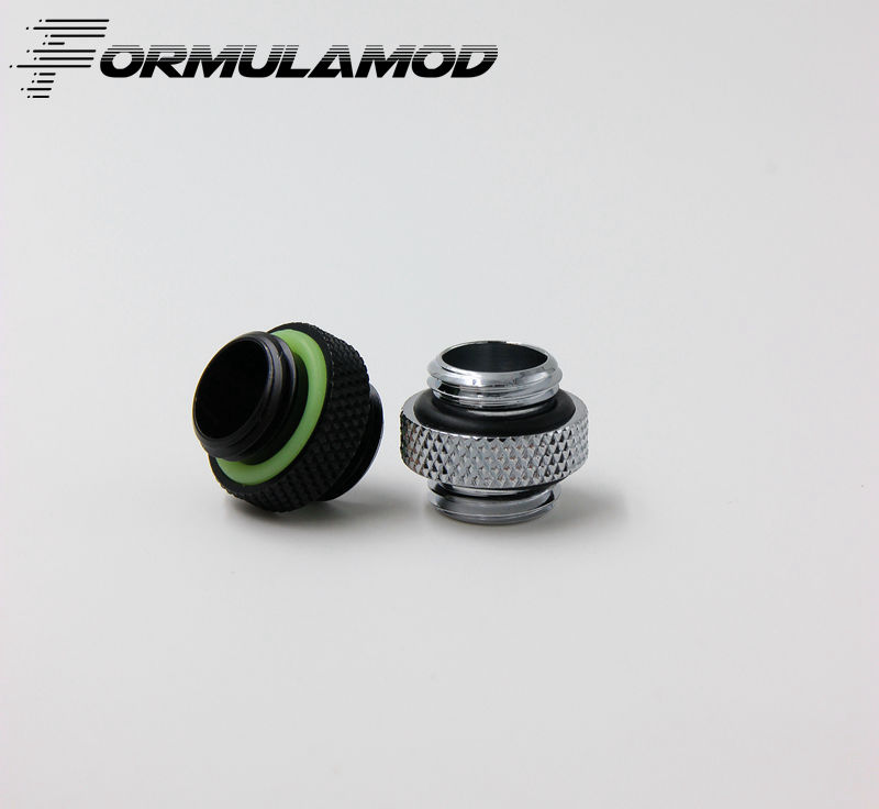 FormulaMod Fm-MNDS, G1/4  Mini Dual External Thread Connection Double Male Adapter Thread Connector For Water Cooling System