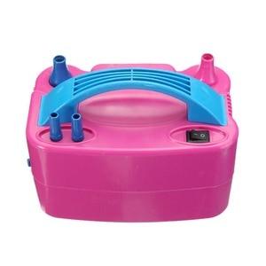 Image 5 - 220V électrique ballon gonfleur pompe AC Plug Double trou buse compresseur dair gonflable électrique ballon pompe Air souffleur