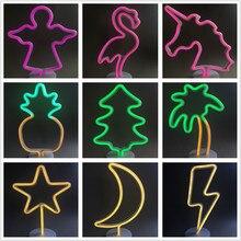 VUNJI Led Neon Lamp LED Night Light Colorful For Home Festival Wedding Photo Props Indoor Decor Illumination Atmosphere Lighting