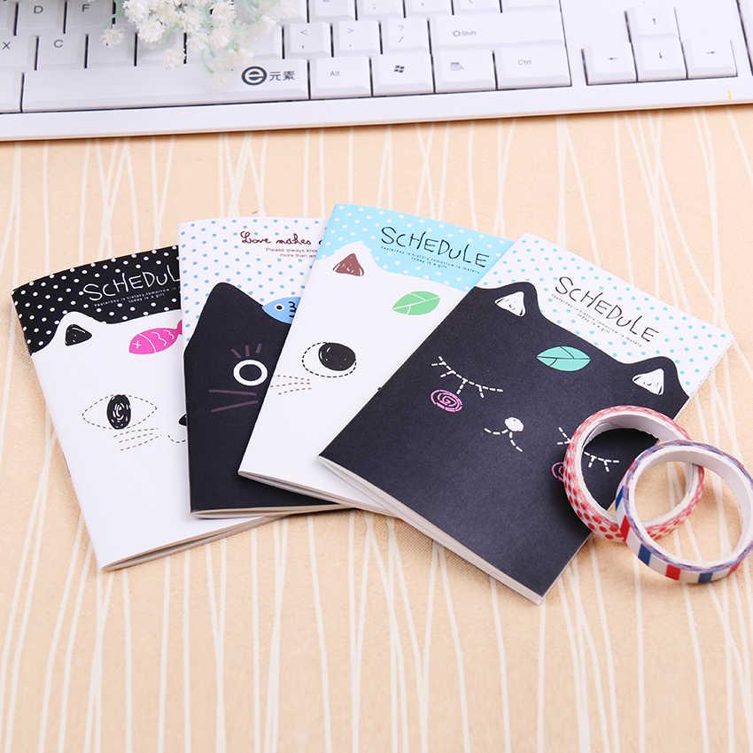 חמוד מיני חתול סגנון אוגדן תלמידי מחברת יומן פנקס כתיבה ספר משרד
