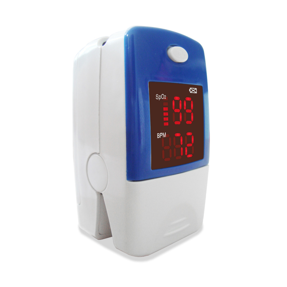 2018 Finger Fingertip Blood Oxygen Meter SPO2 <font><b>LED</b></font> Pulse Heart Rate Monitor,Pouch