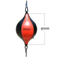 PU Boxing Training Punching Bag Fitness Muay Thai Double End Boxing Speed Ball Pear Inflatable Boxing Equipment Bodybuilding(China)