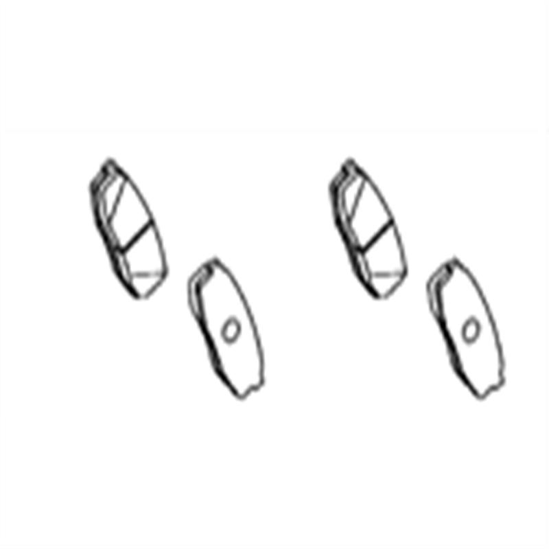 Rear brake pads for TOYOTA 2007 2012 LAND CRUISER / LEXUS