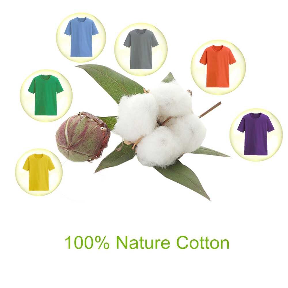 Оптовая продажа, распродажа, мужская летняя футболка из 100% хлопка, мужская повседневная футболка с короткими рукавами и круглым вырезом, удобный однотонный топ, футболки
