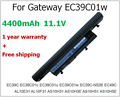 Original 4400mAh laptop battery for Gateway EC39C01w EC39C-N52B EC39C01u ID43A ID49C04u AL10E31 AS10H51 AS10H5E AS10H75 AS10H7E