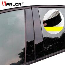 רכב חלון מרכז מדבקת נדבך לקצץ חיצוני קישוט סרט אביזרי רכב עבור פורד פוקוס 2 MK2 3 MK3 פיאסטה ליווי ecosport