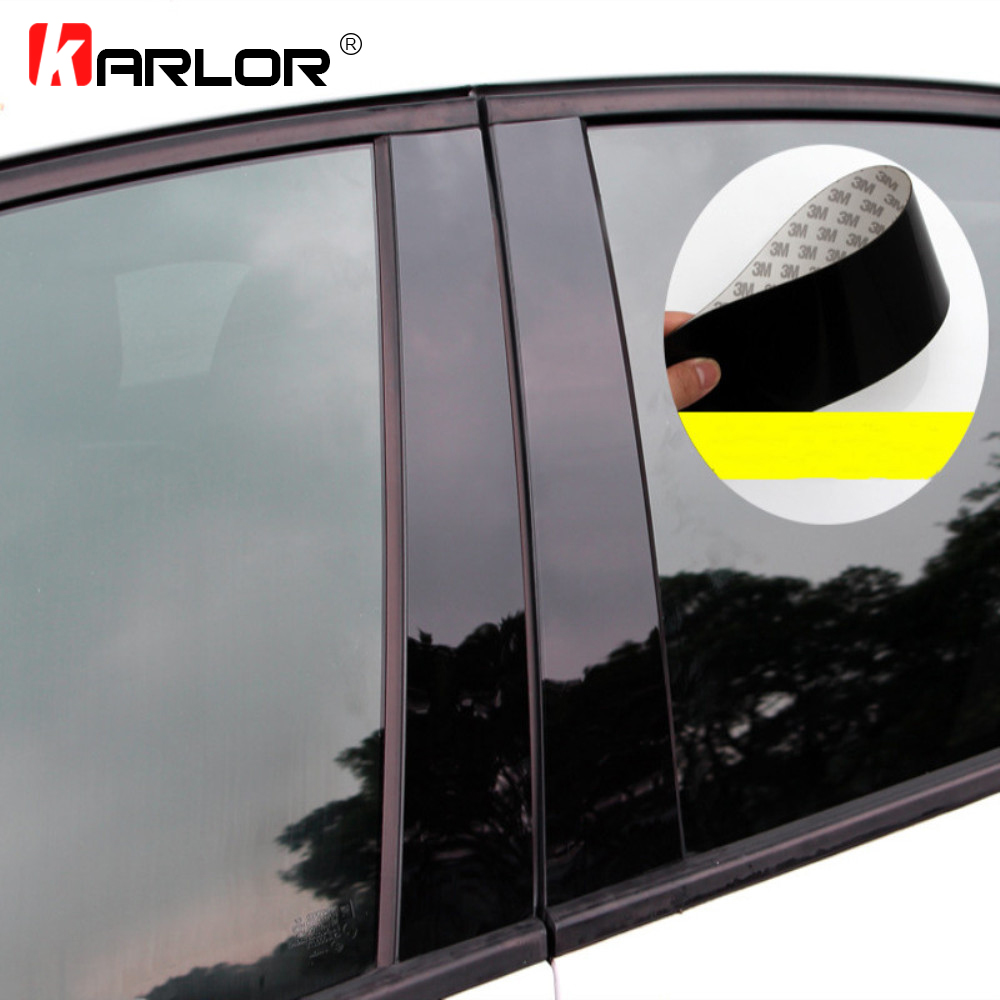Car Window Center Pillar Sticker Trim External Decoration Film Car Accessories For Ford Focus 2 MK2 3 MK3 Fiesta Escort Ecosport