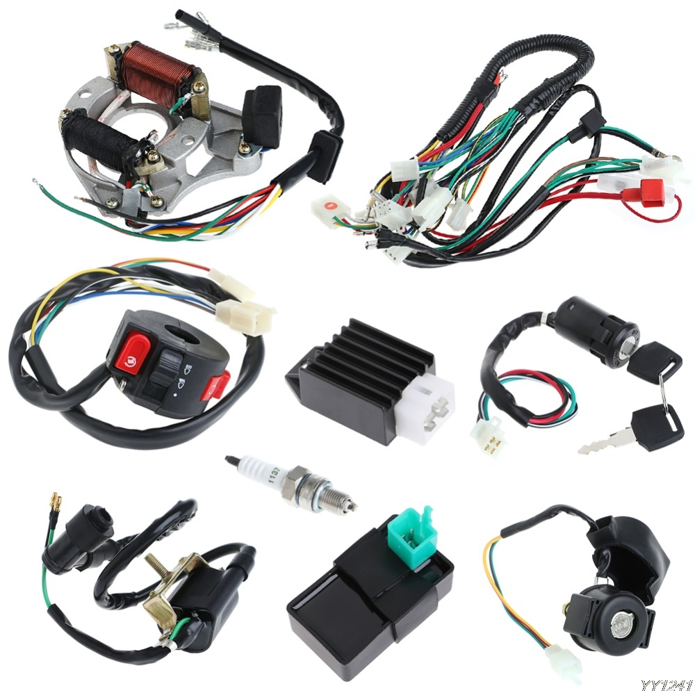 50 70 90 110CC CDI Wire Harness Assembly Wiring Set ATV Electric Quad Coolster