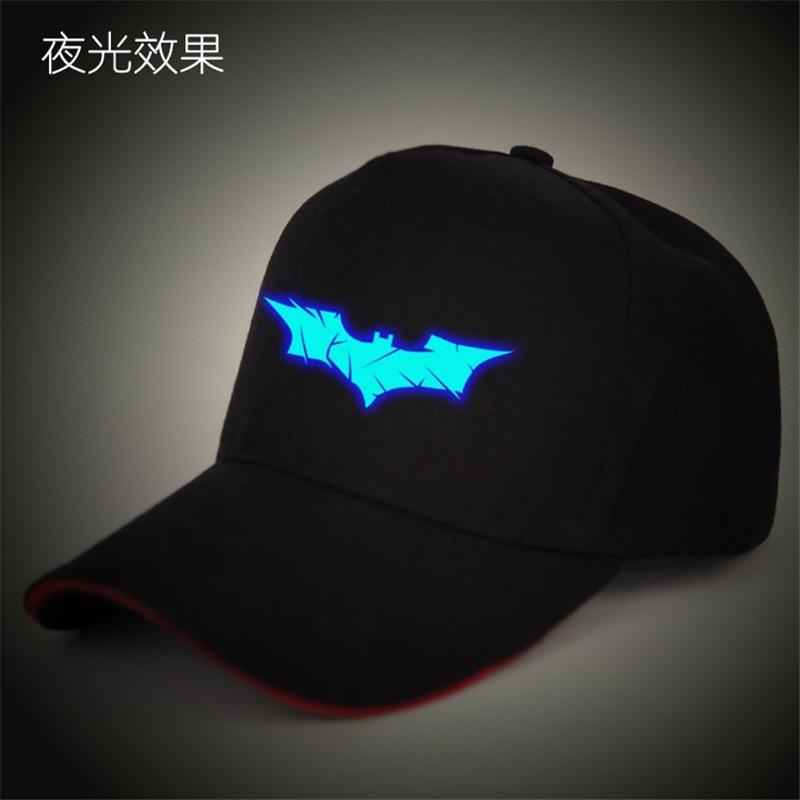 Fashion Summer Brand Batman   Baseball     Cap   Hat For Men Women Casual Bone Hip Hop Snapback   Caps   Hats Free Shipping glow in the dark