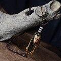 New Original ethnic jewelry necklace,fashion Aboriginal pottery clay necklace,new aboriginal people mask vinatge necklace