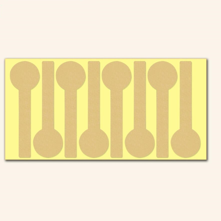 Купить с кэшбэком 40pcs/lot Vintage Blank Long lollipop design Kraft Paper Label DIY Handmade Gift Cake Baking Seal Sealing Sticker