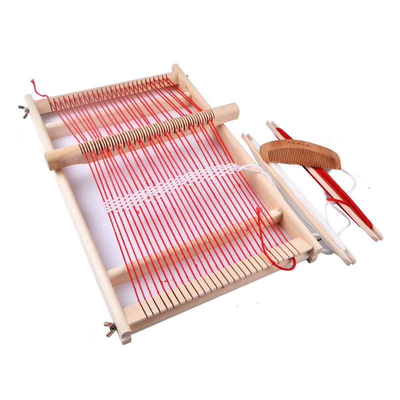 Wooden Traditional Weaving Loom Childrens Wooden Toy Educational Gift Craft Wooden Weaving Frame knitting Machine